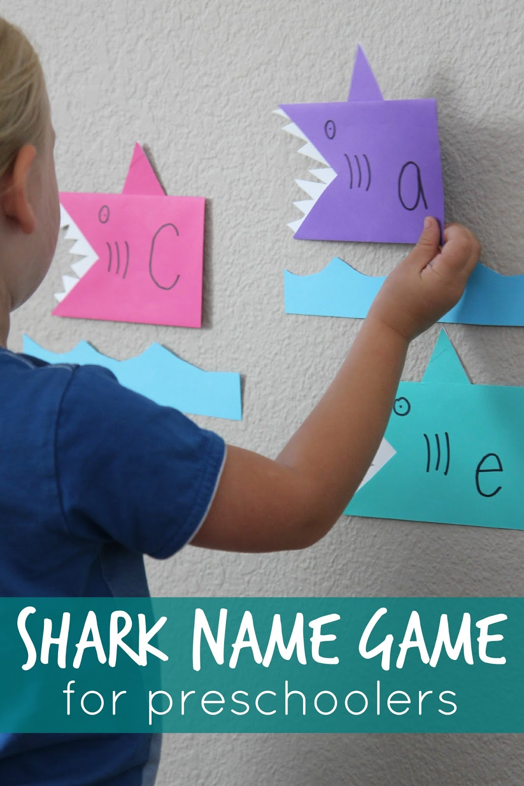 Toddler Approved Shark Name Game For Preschoolers
