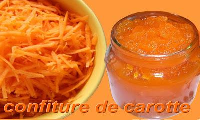 préparation recette confiture de carottes