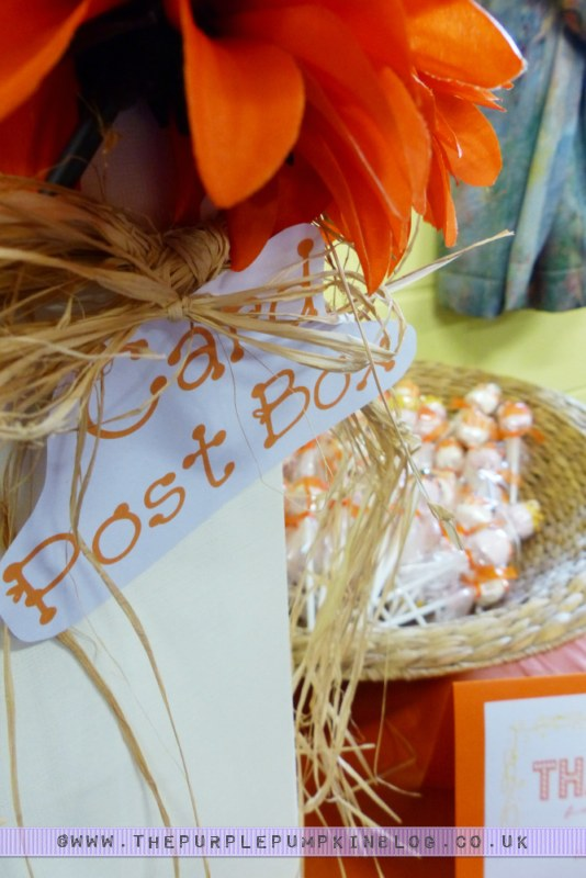 Orange & Yellow Birthday Card Post Box