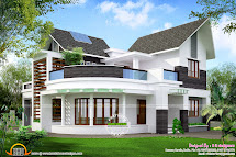 Beautiful Unique House - Kerala Home Design And Floor Plans