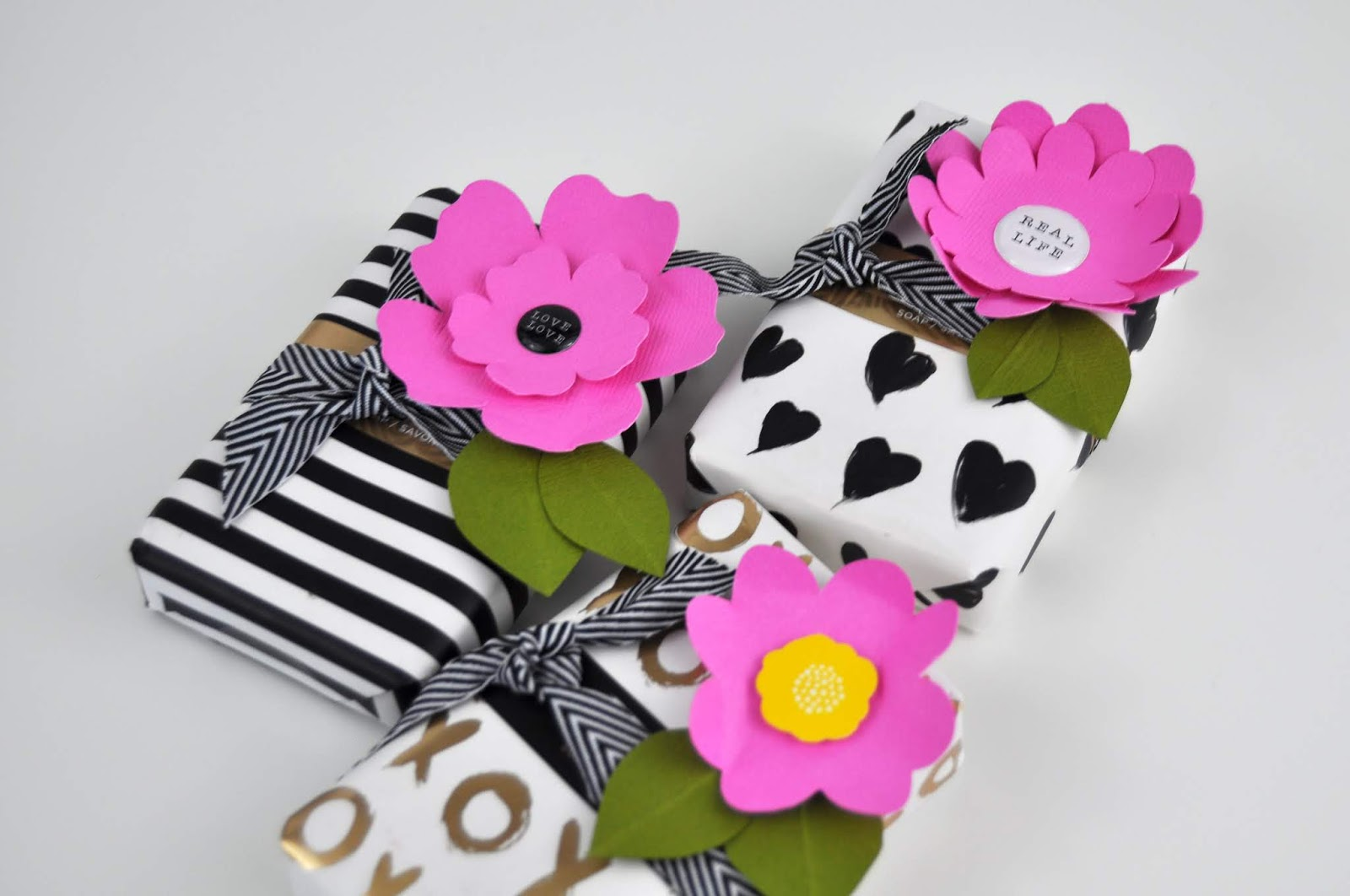 Wrapped soap bar presents tutorial with Jen Gallacher sponsored by Scrapbook.com. #papercraft #diecutting #adhesive