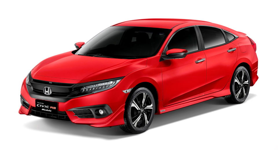 Honda launches stylish civic rs turbo modulo in the for Honda civic specials