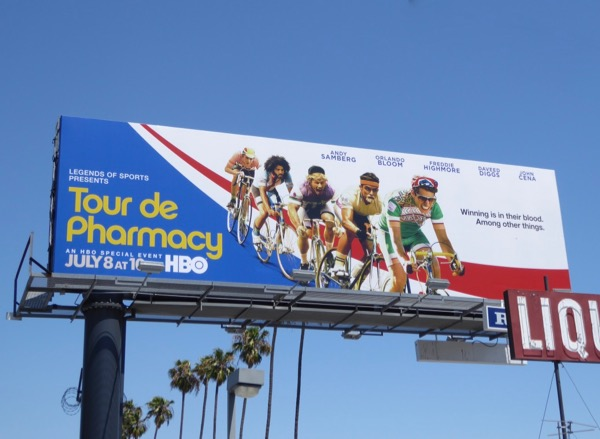 Tour de Pharmacy film billboard