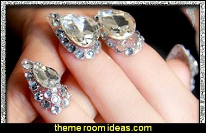 Super luxury crystal  false nails art decoration
