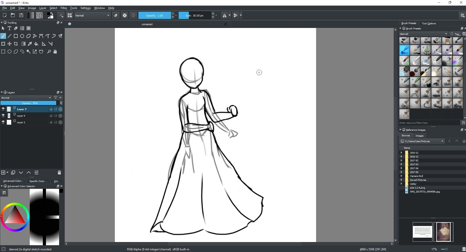 Oh Yeah Drawing The Rest Of Skirt Might Be Handy To Remember As Well Basically I Just Resized Canvas And Then Dragged Layers Up Make Room
