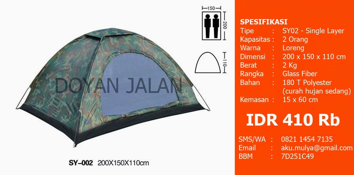 Tenda Dome Kapasitas 2 Orang Murah