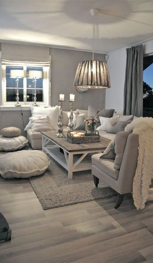 cool white living room decor idea
