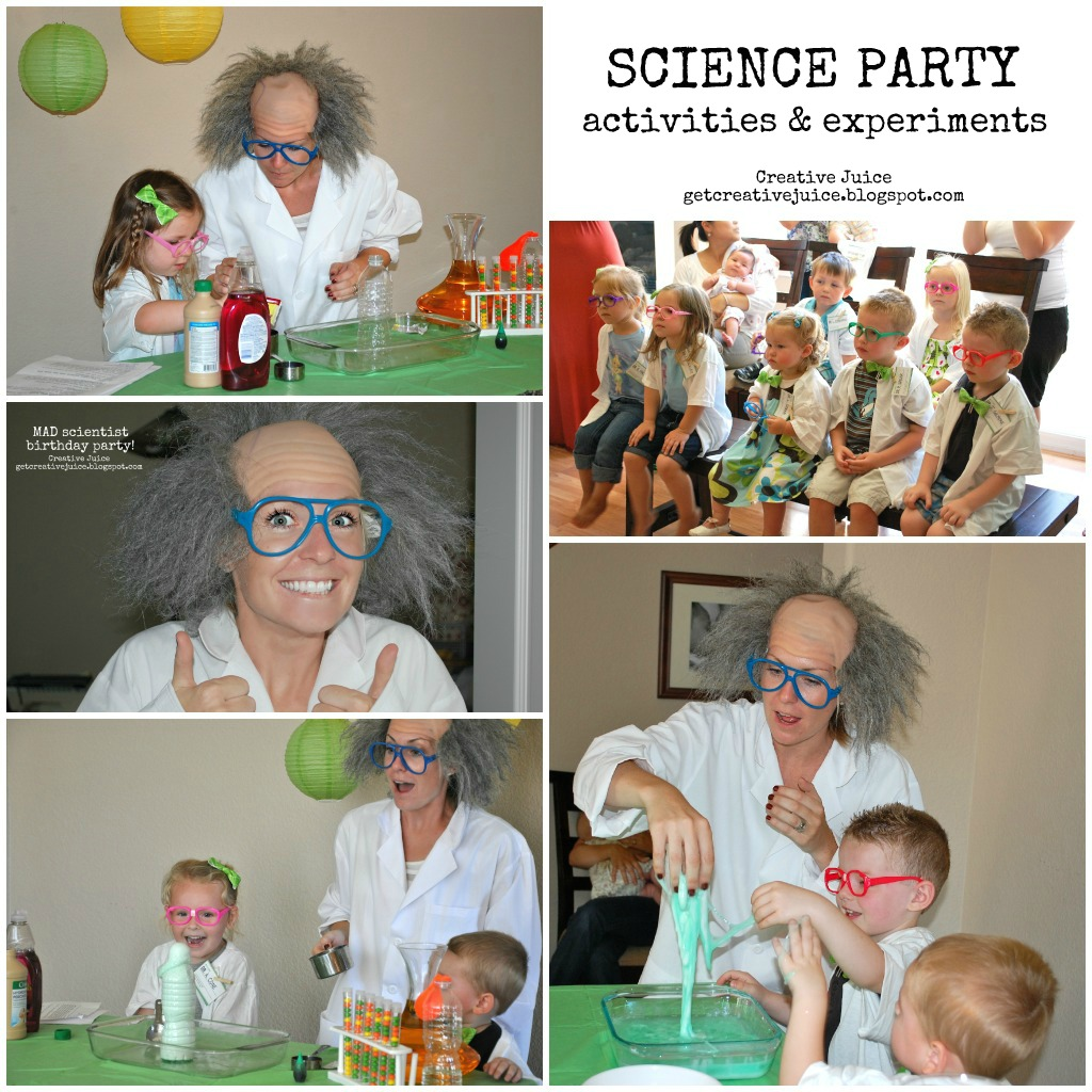 Birthday Party Activities: {science Party} ACTIVITIES & EXPERIMENTS