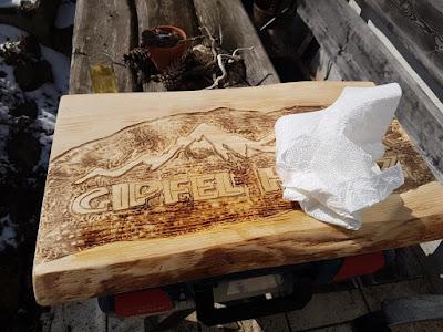 Holzlasur Holzschild