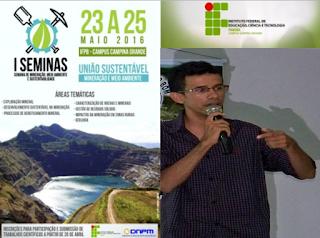 Professor Picuiense proferirá palestra no IFPB-Campus-CG