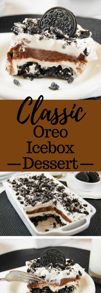Classic Oreo Icebox Dessert #dessert #sweettreat