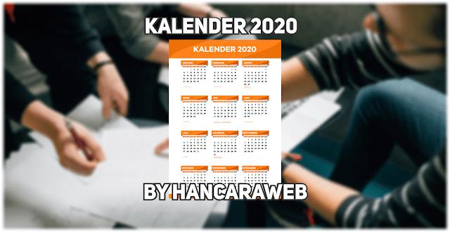 Download Template Kalender 2020 Gratis Format CDR, PDF, PNG Lengkap