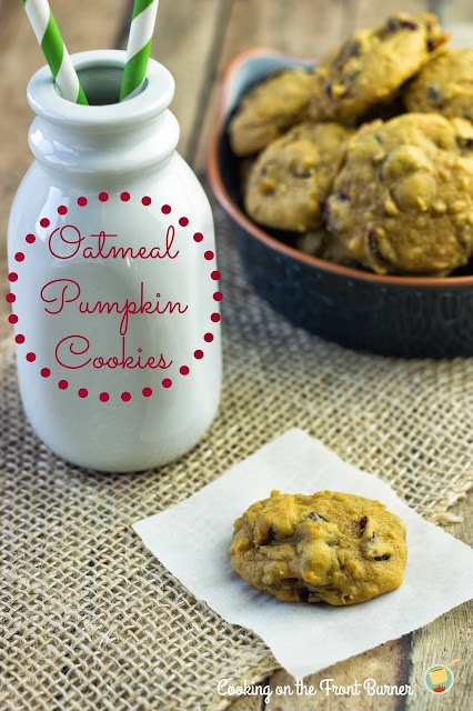 Oatmeal Pumpkin Cookies | Cooking on the Front Burner #pumpkins #cookies