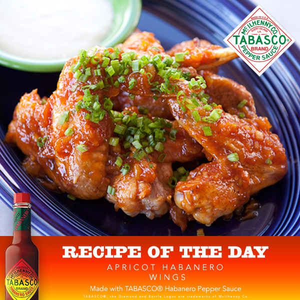 Apricot Habanero Wings Recipe