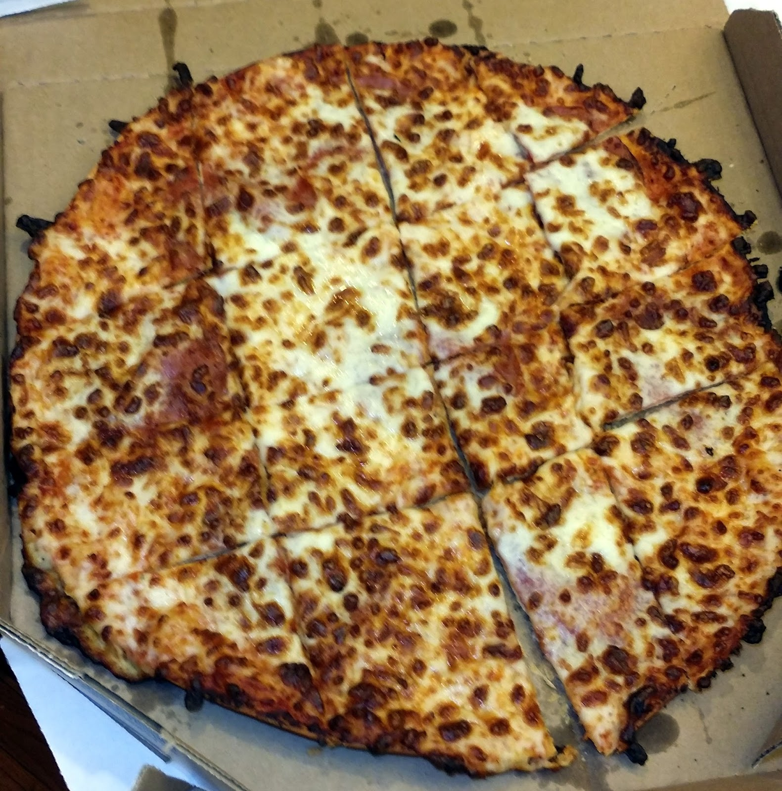 Pizza Quixote: Review: Domino's Crunchy Thin Crust Pizza