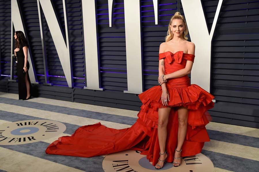 Chiara Ferragni Shines In Pomellato Jewels At The 2019 Vanity Fair Oscars Party