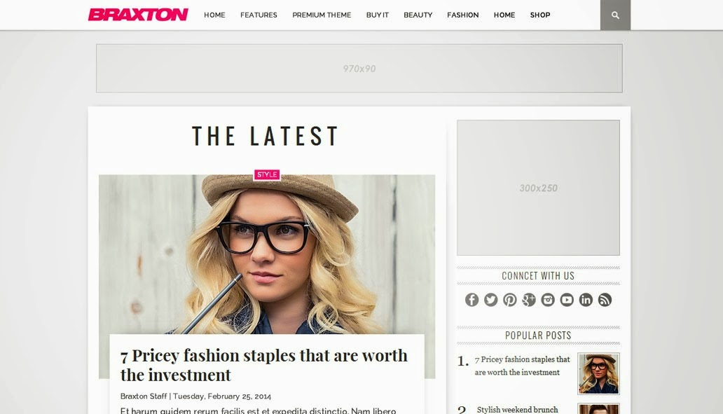 Blogspot TemplatesResponsive Blog ThemesFree Blogger Templates - fashion blogger templates