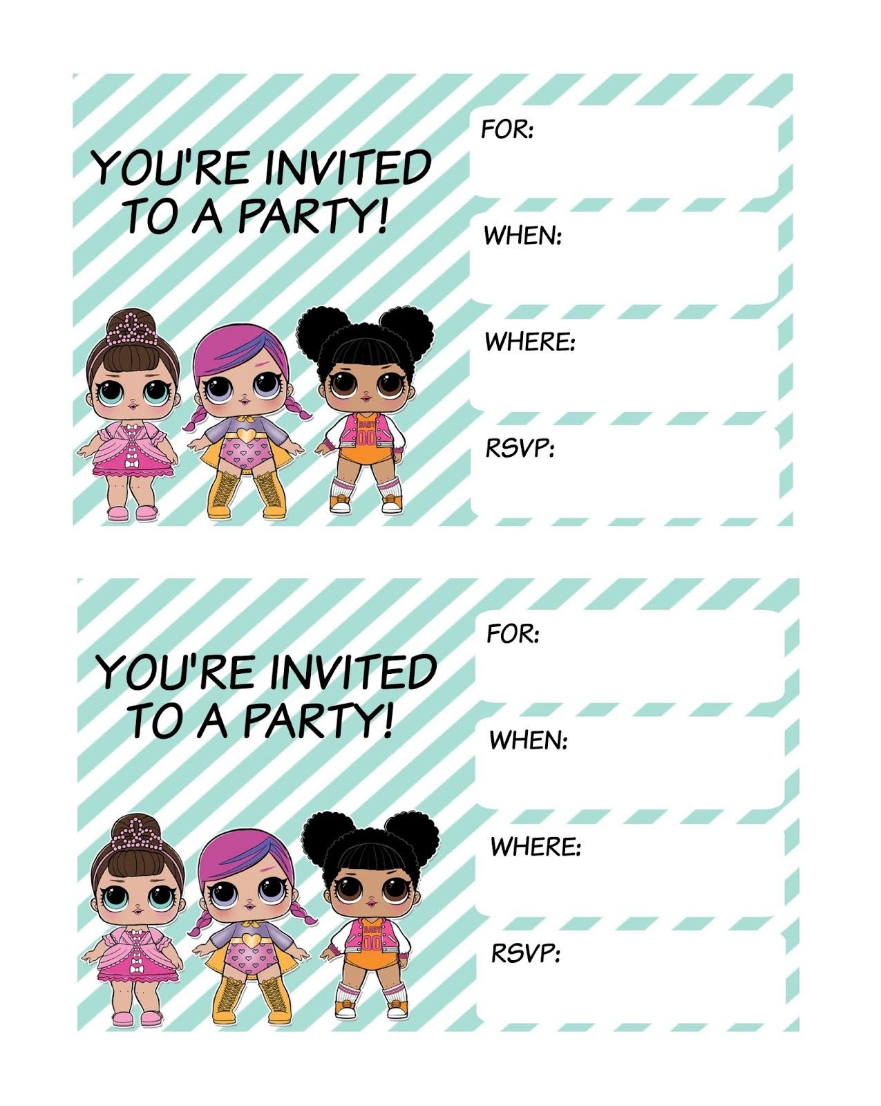 l o l surprise invitations