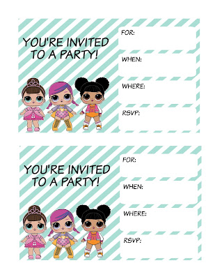 L.O.L. dolls party printables