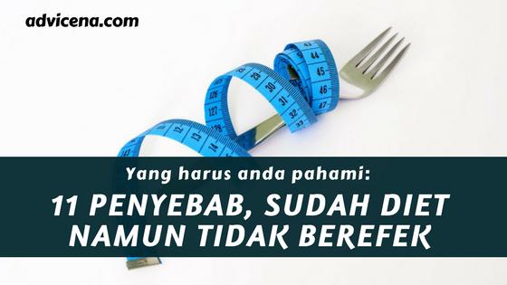 penyebab diet tidak menurunkan berat badan