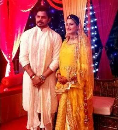 Sreesanth and Bhuvneshwari as couple