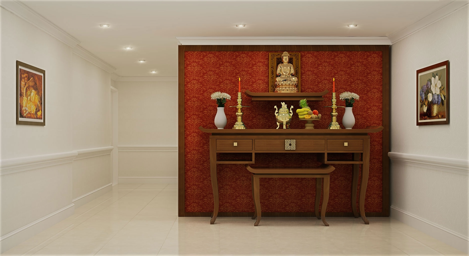 Hướng dẫn đặt vị trí bàn thờ trong căn hộ chung cư