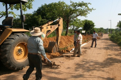 Construcción red de agua potable