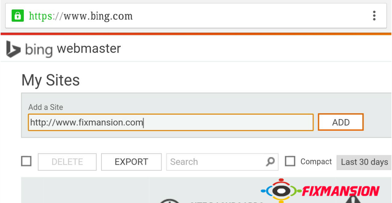 Submit A Sitemap To Bing Webmaster Tools - Fancybloggertricks