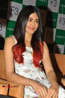 Bollywood Actress Adah Sharma Pos in White Printed Short Dress at OPPO F3 Plus Selfie Expert Mobile Launch .COM 0009.jpg