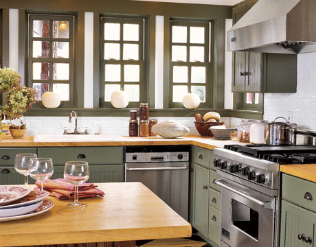 Kitchen Butcher Block Color : Behind the Stone Wall: Butcher Block Fantasies