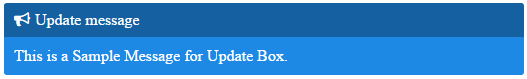 update message box