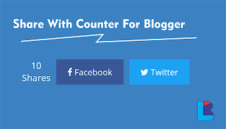 Membuat Share With Counter Pada Blogger