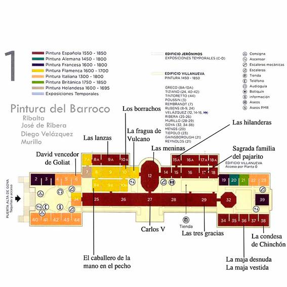 Plano museo del Prado