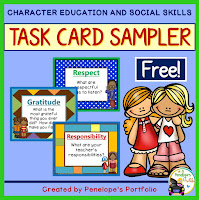 Character Education - Social Skills Task Sampler Free