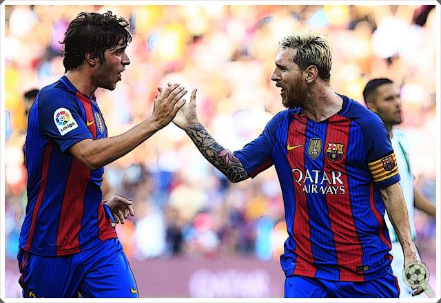 Sergi Roberto Lionel Messi 2016-17