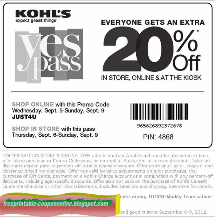 Printable Coupons 2019: Kohls Coupons