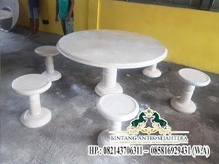 Meja Makan Marmer Putih