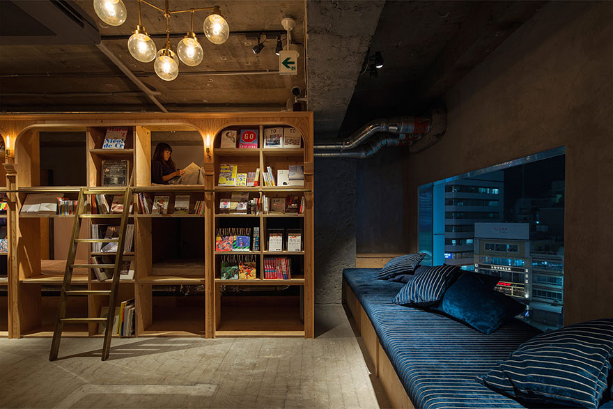 Traveling bookworms will soon have a new place to stay in Tokyo - Bookstore-Themed Tokyo Hotel Has 1,700 Books And Sleeping Shelves Next To Them