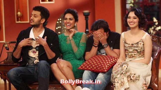 Ritesh Deshmukh, Esha Gupta, Saif Ali khan and Tamanna Bhatia, Esha Gupta, Tamanna, Humshakals Cast on CNWK