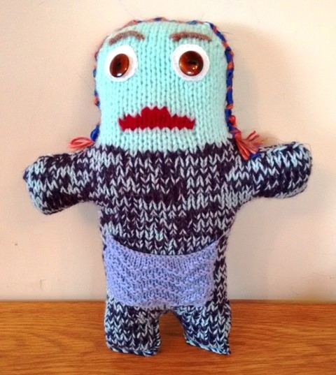 Great Balls of Wool: Free knitting pattern for a worry monster with ...