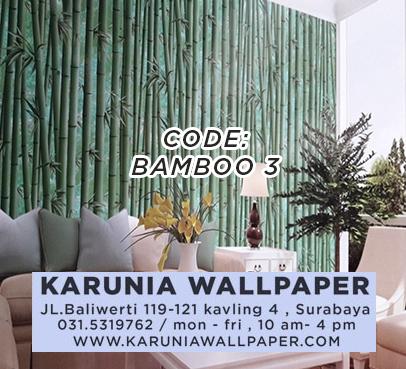 jual dekorasi wallpaper bambu