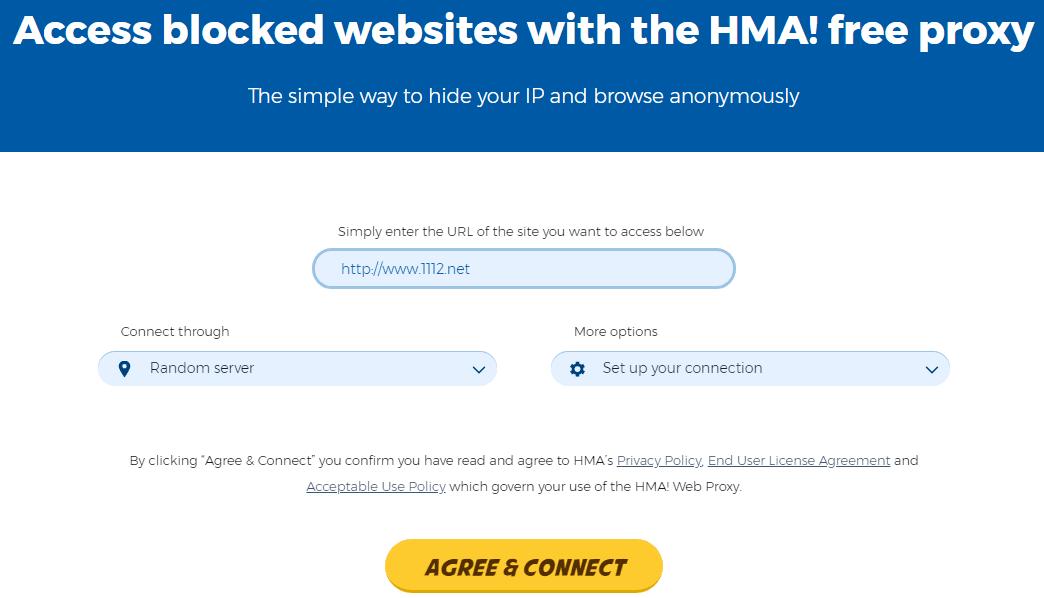 situs web proxy gratis terbaik HideMyAss