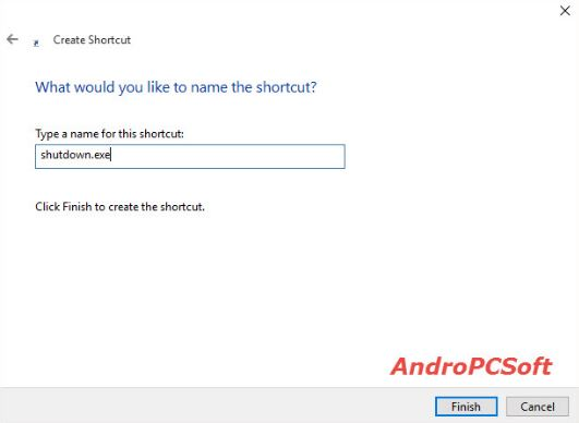 shut down shortcut