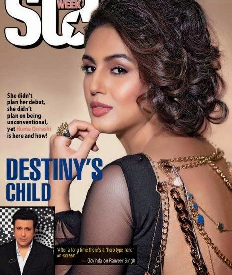 Huma Qureshi, Bollywood Actresses on Indian Magazines November 2014 Covers
