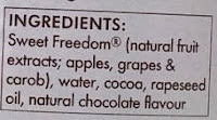Sweet Freedom Choc Shot Ingredients