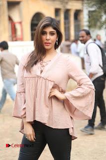 Telugu Actress Aditi Singh Stills in Leather Pants at Nenu Kidnap Iyanu Movie Press Meet  0043.JPG