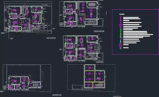 مخطط كهرائي اوتوكاد لمنزل