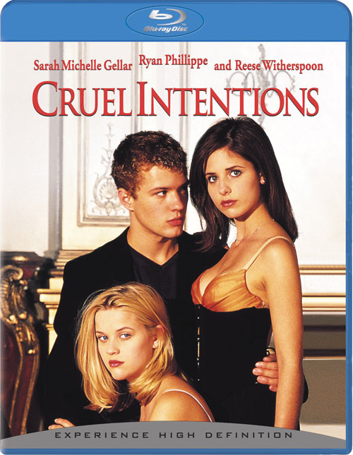 Blue ray cover Cruel Intentions 1999 movieloversreviews.filminspector.com