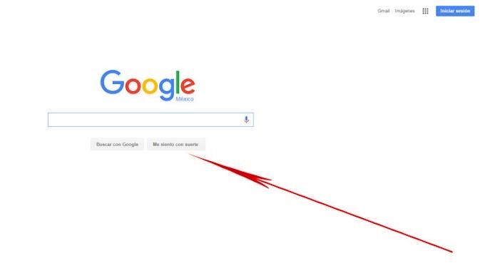 ¿Cuál es la función del botón 'Me siento con suerte' de Google?