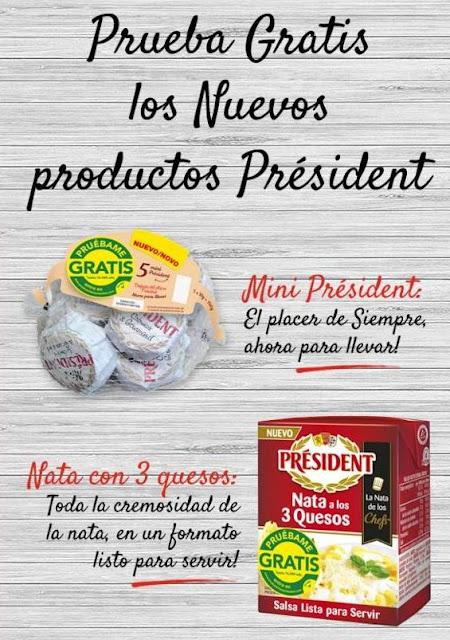 Prueba gratis los nuevos productos de President